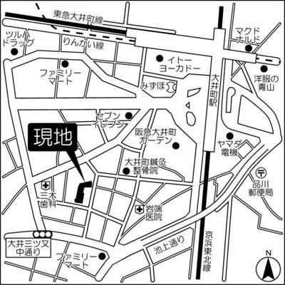 【地図】アーマックス大井町