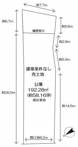 【土地図】伏見区横大路中ノ庄町