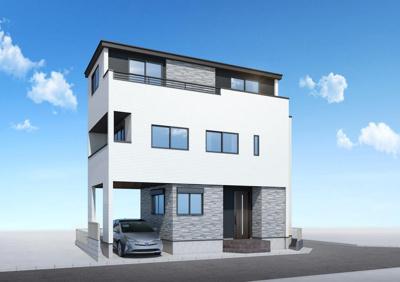 【外観パース】A232 新築戸建て 小平市御幸町