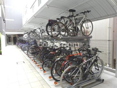 広めの駐輪場です。