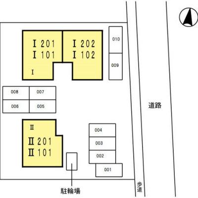 【区画図】サン・フラッツ Ⅰ棟