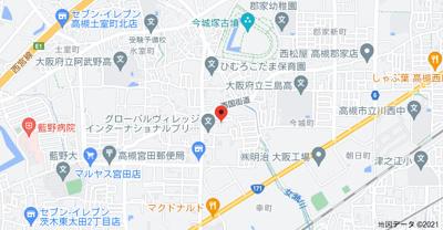 【地図】宮田町3丁目貸家 (株)Roots