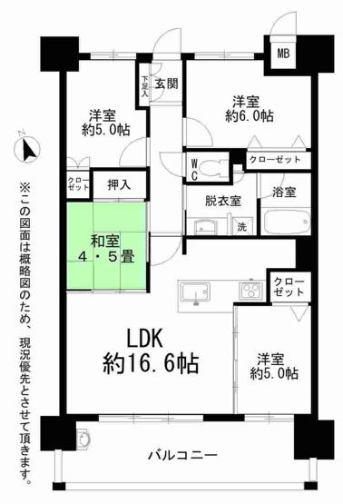 2013年築のまだまだ新しいオートロックマンションです♪ 南向きの明るいLDKは16.6帖の広さ。ダイニングテーブルを置いても、ソファやテレビも十分置けます