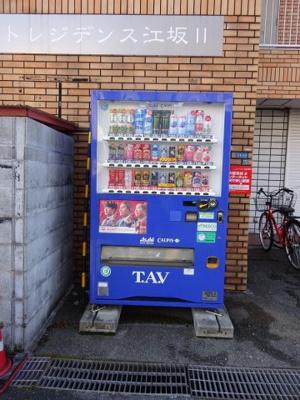マンション前に自販機があるので便利(^-^)