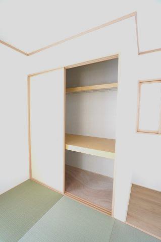 【同仕様施工例】押入があるので座布団やお布団、お子様のおもちゃなど収納できます。