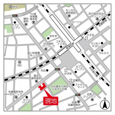 【地図】南浦和パインマンション