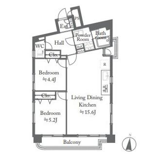 新規内装リノベーション済、開放感溢れる3方向角部屋の2LDK