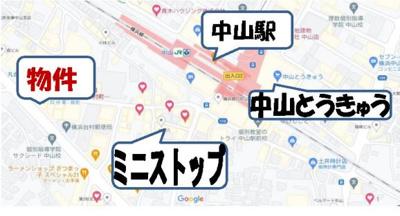 【地図】第2SKハイツ