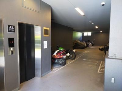 自転車用のエレベーターです。