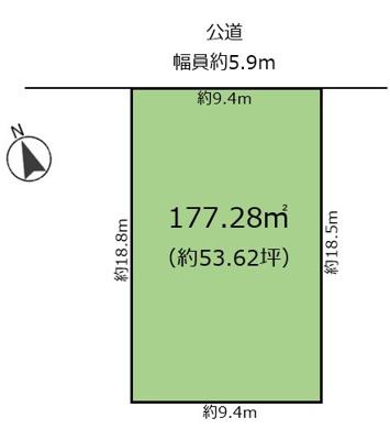 【区画図】津門仁辺町 売土地