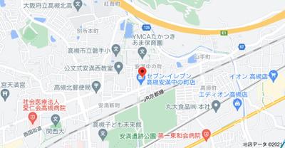 【地図】パインステージ高槻