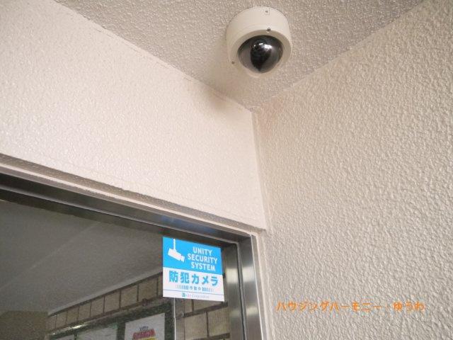 防犯カメラが24時間監視しています。