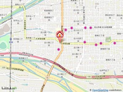 【地図】ブライムハヤシ