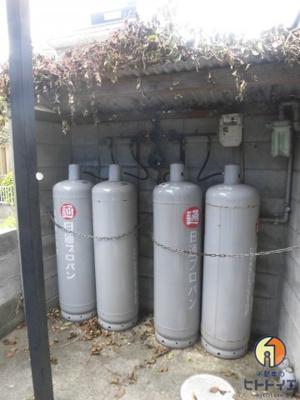 ガスはプロパンです