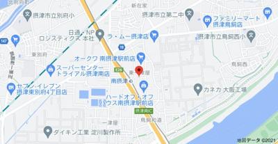 【地図】ファミーユ南茨木