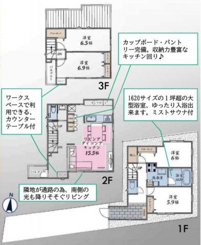 大田区北糀谷1丁目 6,650万円 新築一戸建て【仲介手数料無料】
