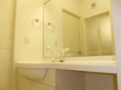 洗髪洗面化粧台(大型鏡・収納棚付)