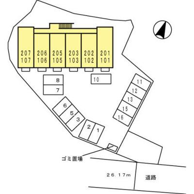 【区画図】D-room N.大谷