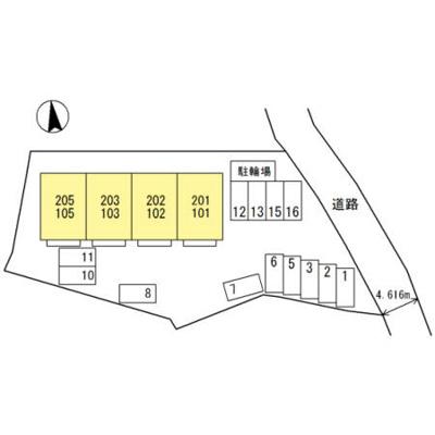 【区画図】D-room西庄