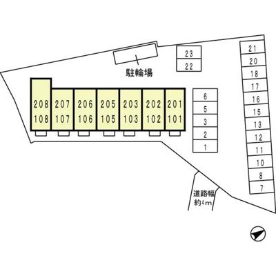 【区画図】パインズコートⅡ