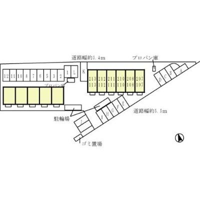 【区画図】ハイツ エンカウンターⅡ