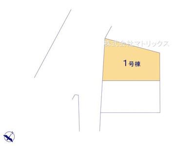 【区画図】マトリックスセレクション☆Happy Life 四葉1丁目☆新築分譲住宅 収納豊富な4LDK+ビルトイン車庫☆