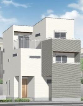 【外観パース】神戸市垂水区星陵台5丁目 新築戸建