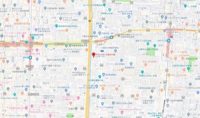 【地図】プレサンス松屋町ファステ