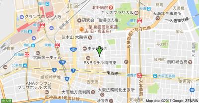 【地図】M&Mウメダイースト