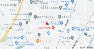 【地図】千里セピアテラス