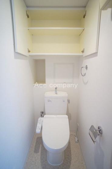 温水洗浄便座新調☆上部に吊戸棚あります♪