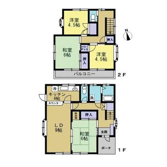 2階の和室は洋室になります。全居室収納の4LDKです。