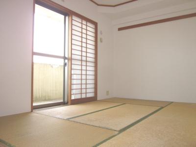 同じ間取りの別の部屋の写真です。和室に寝転ぶと落ち着きます。