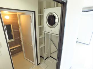 洗面室 衣類乾燥機完備!