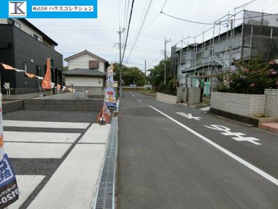 【前面道路含む現地写真】土浦市乙戸南4期 新築戸建 1号棟