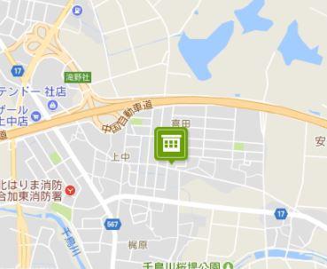 【地図】サンライフ・アイD棟