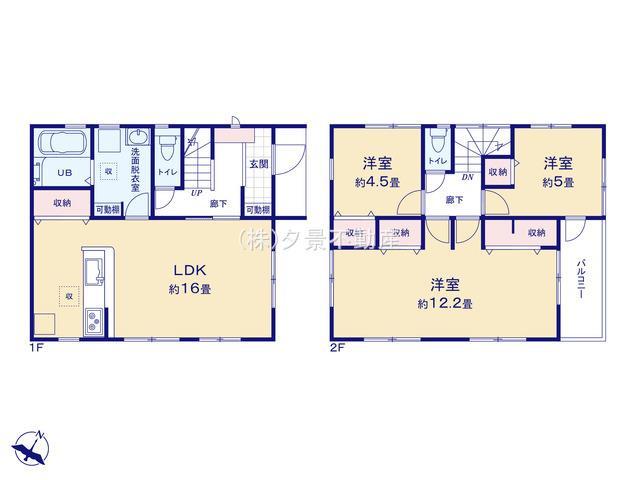 【区画図】緑区大字大門1843-6(1号棟)新築一戸建てリーブルガーデン