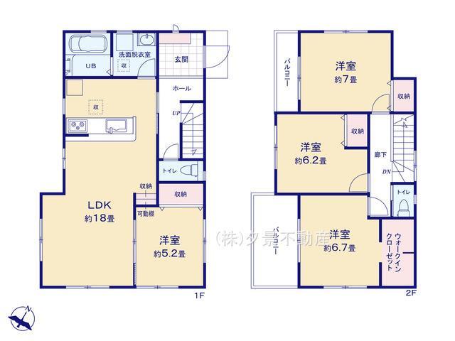 【区画図】緑区大字大門1843-6(2号棟)新築一戸建てリーブルガーデン