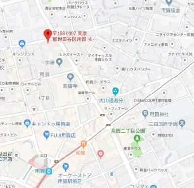 【地図】フレンシア用賀