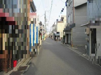 【前面道路含む現地写真】中京区壬生下溝町 建築条件無し 売土地