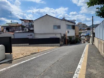 【前面道路含む現地写真】北区紫野西土居町2号地 建築条件付 売土地