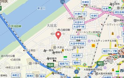 【地図】サムティ西梅田グロリエ