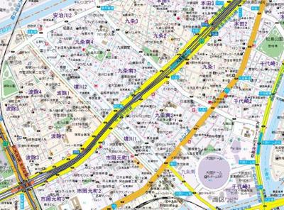【地図】エステムコート難波WEST-SIDEIIIドームシティ