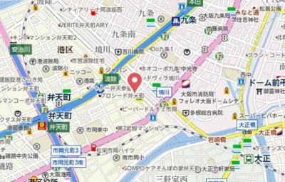 【地図】エステムコート難波WEST-SIDEⅥグラッド