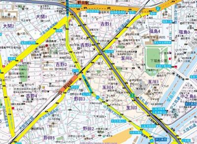 【地図】中央マンション