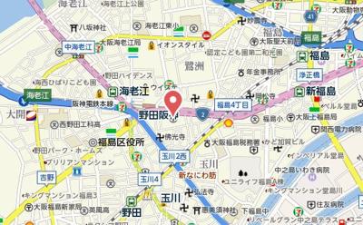 【地図】アルグラッド野田阪神