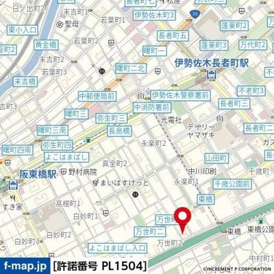 【地図】ビッグヴァンステイツ伊勢佐木南