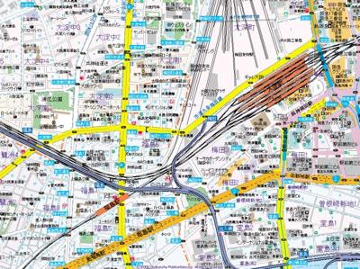 【地図】アクセリス大阪福島