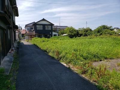 【前面道路含む現地写真】鳥取市気高町宝木土地③