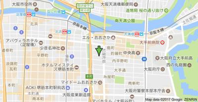 【地図】イーストモート高麗橋